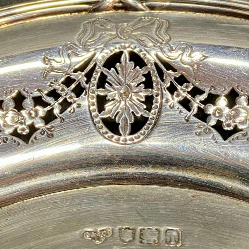 Edwardian Solid Silver Pierced Plate image-4
