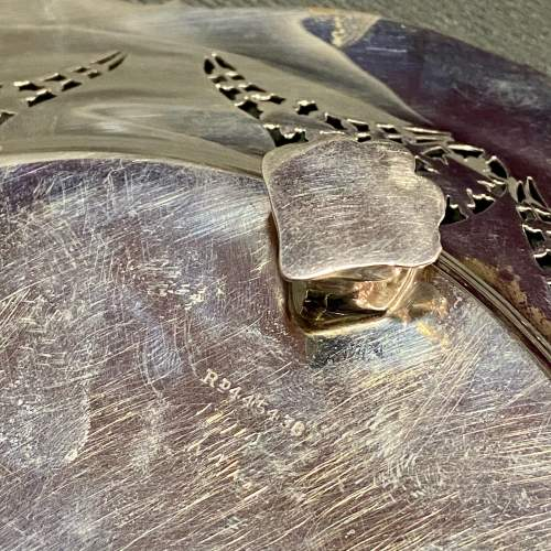 Edwardian Solid Silver Pierced Plate image-6
