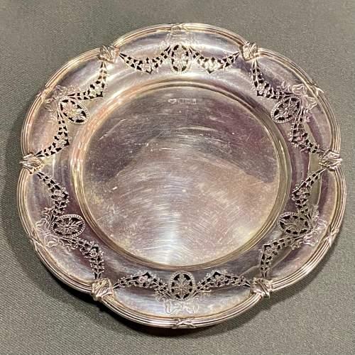 Edwardian Solid Silver Pierced Plate image-2