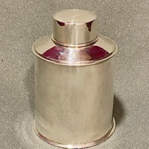 Edwardian Silver Tea Caddy
