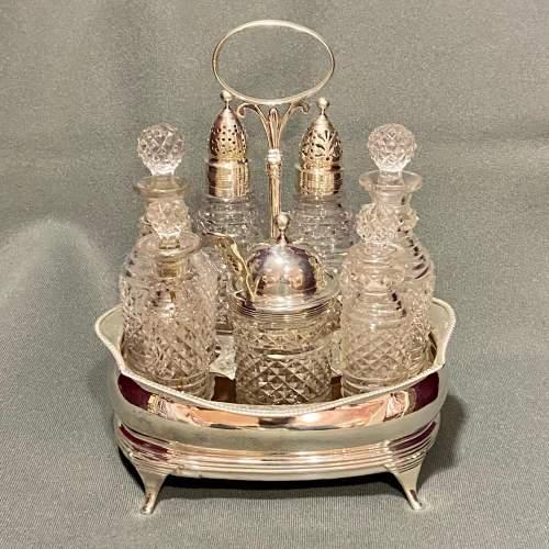 Early 19th Century Georgian Silver Cruet image-1
