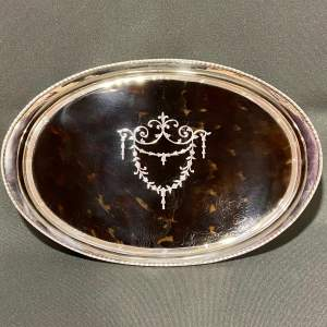Tortoiseshell and Silver Tray