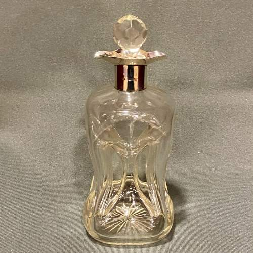 Early 20th Century Glug Glug Decanter with Silver Collar image-1