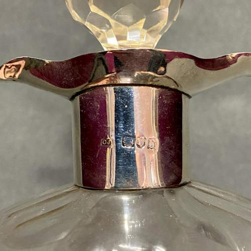 Early 20th Century Glug Glug Decanter with Silver Collar image-6
