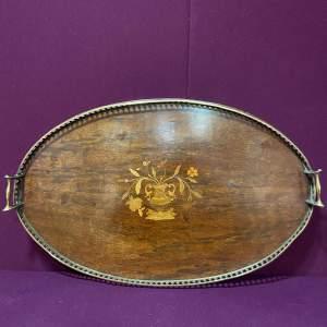 Edwardian Inlaid Mahogany Butlers Tray