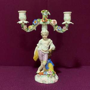 Victorian Porcelain Candle Holder