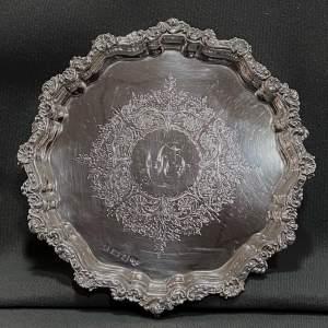 Edwardian Period Solid Silver Salver