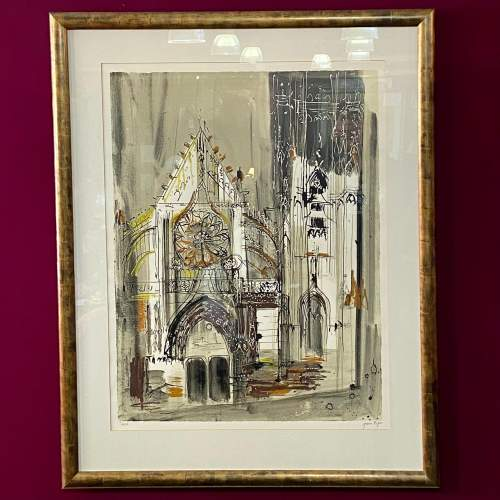 Clamecy Burgundy Print by John Piper image-1