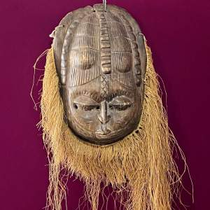 Early 20th Century Large African Tribal Mask