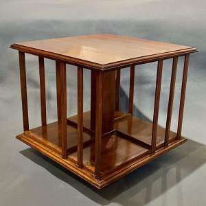 Edwardian Mahogany Table Top Revolving Bookcase