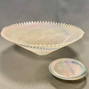 Vintage Marbled Lustre Glass Bowls