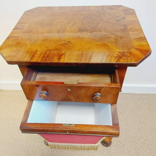 Victorian Walnut and Mahogany Sewing Table image-2