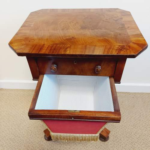 Victorian Walnut and Mahogany Sewing Table image-3