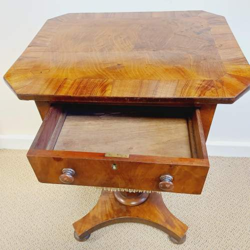 Victorian Walnut and Mahogany Sewing Table image-4