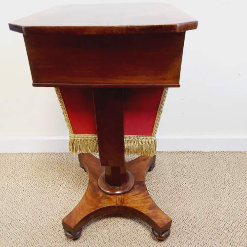 Victorian Walnut and Mahogany Sewing Table image-5