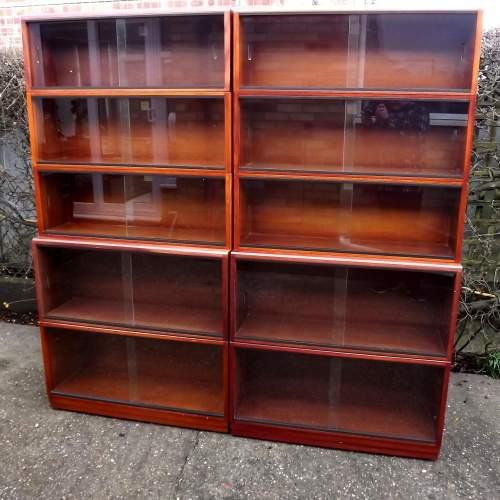 Simplex Medium Mahogany 10 Section Modular Barristers Bookcases image-1