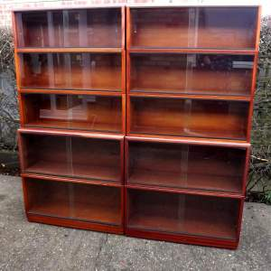 Simplex Medium Mahogany 10 Section Modular Barristers Bookcases