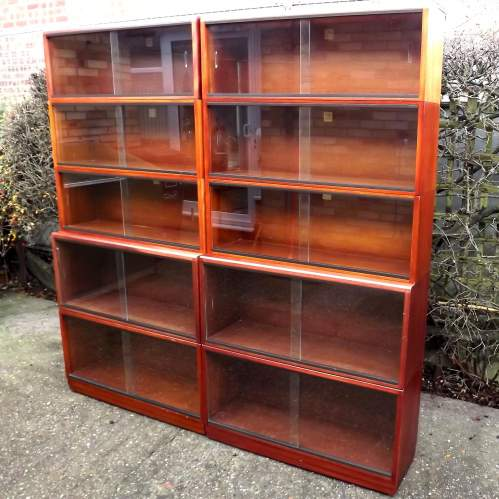 Simplex Medium Mahogany 10 Section Modular Barristers Bookcases image-3