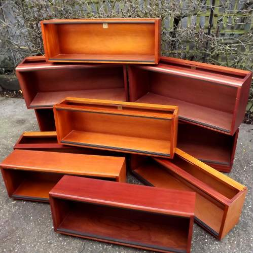 Simplex Medium Mahogany 10 Section Modular Barristers Bookcases image-4