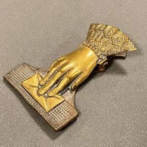 Victorian Brass Hand Letter Clip