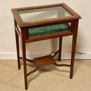 Edwardian Inlaid Rosewood Bijouterie Cabinet