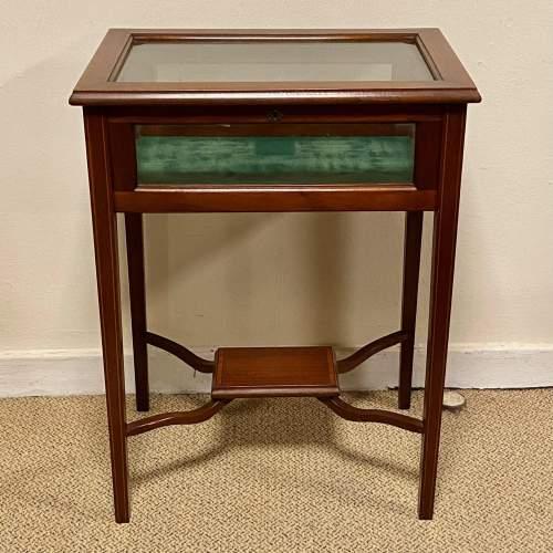 Edwardian Inlaid Rosewood Bijouterie Cabinet image-2