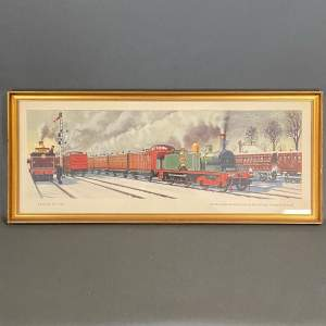 20th Century Carriage Print Travel in 1870 Train for Broad Street