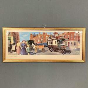 Mid 20th Century Carriage Print Travel in 1910 LNWR Bus