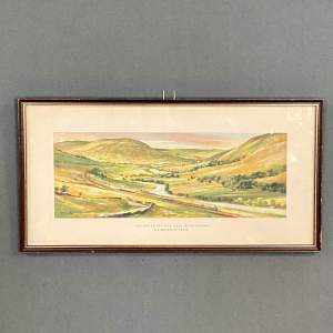 Original 1957 Carriage Print of The Lune Valley Near Tebay