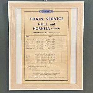 Original 1951 British Railways Hull and Hornsea Town Timetable