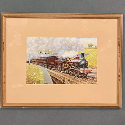 J D Gofey Original Oil Painting of a Midland Railway Down Service image-1
