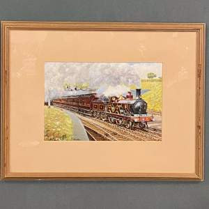 J D Gofey Original Oil Painting of a Midland Railway Down Service
