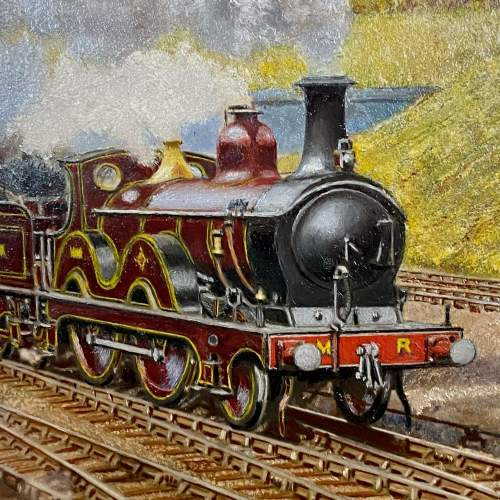 J D Gofey Original Oil Painting of a Midland Railway Down Service image-2
