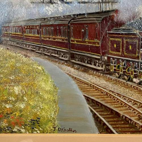 J D Gofey Original Oil Painting of a Midland Railway Down Service image-3