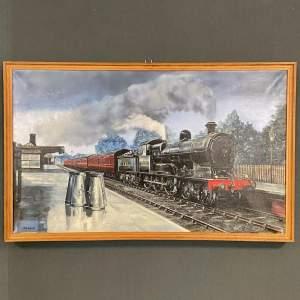 Original Wilf Brewill Oil on Canvas of Lusitania Ex LNWR Train