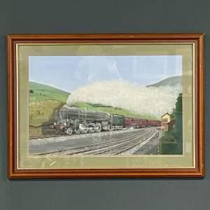 Mark White Original Watercolour of the Duke of Gloucester Train