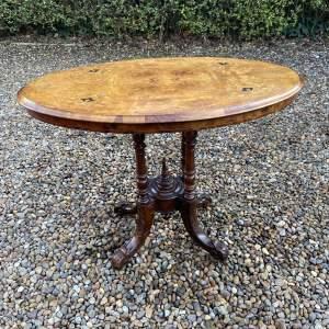 Victorian Burr Walnut Small Centre Table