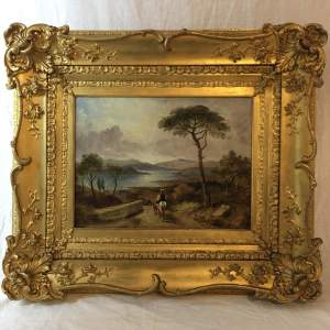 Fine 19th Century Oil Painting Continental Landscape