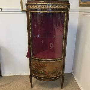 French Style Vernis Martin Ormolu Corner Display Cabinet