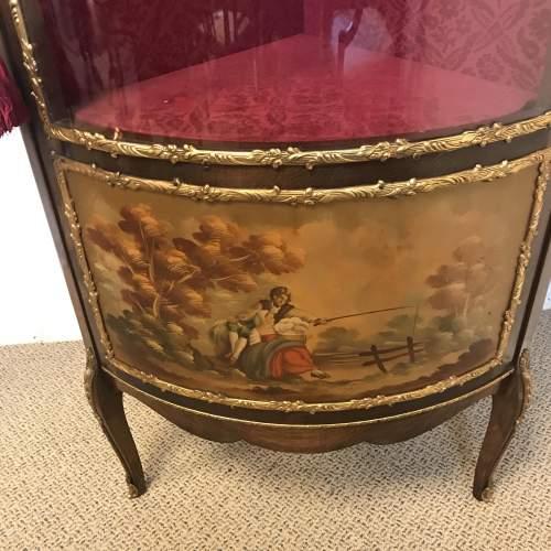 French Style Vernis Martin Ormolu Corner Display Cabinet image-2