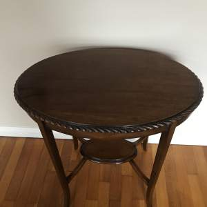 Edward VII Mahogany Oval Occasional Table with Under shelf