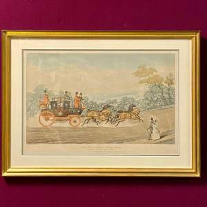 The New London Royal Mail Coloured Engraving