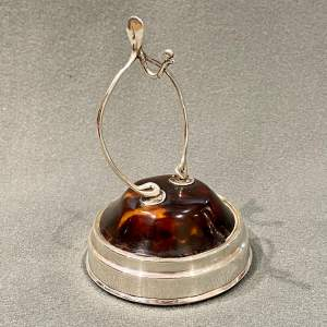 Early 20th Century Wishbone Tortoiseshell and Silver Ring or Watch Stand