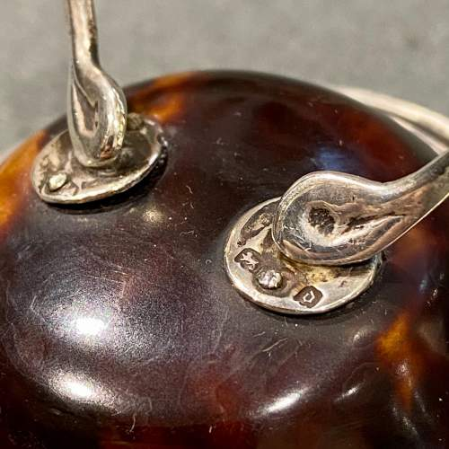 Early 20th Century Wishbone Tortoiseshell and Silver Ring or Watch Stand image-4