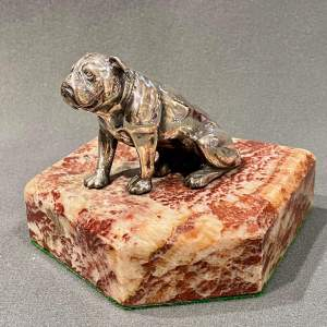 Vintage Silver Plated Bull Dog Paper Weight