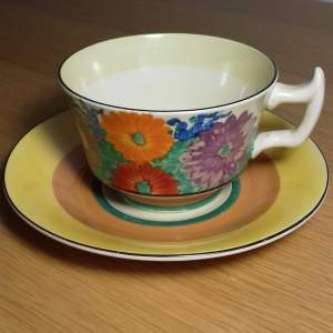 Clarice Cliff Bizarre Gayday Cup and Saucer