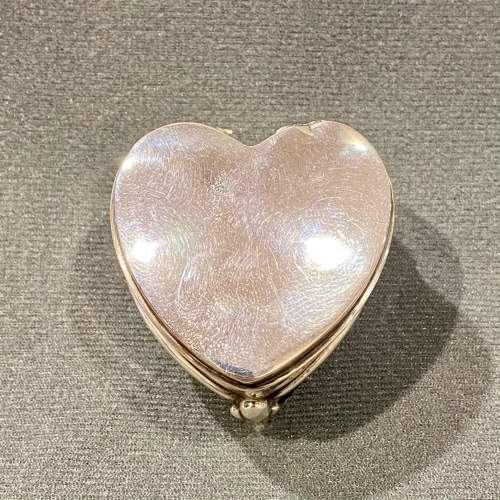 Early 20th Century Heart Shaped Silver Trinket Box image-3