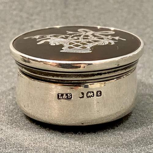 Edwardian Silver and Tortoiseshell Pair of Pill Pots image-3