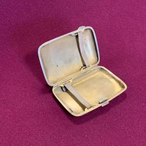 20th Century sterling Silver Calling Card or Cigarette Case