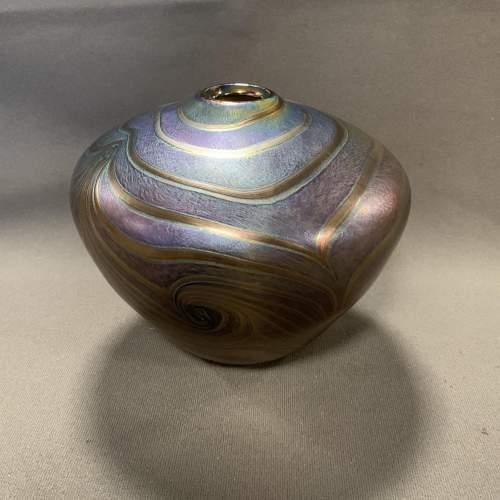 John Ditchfield Glasform Irridescent Glass Vase image-2